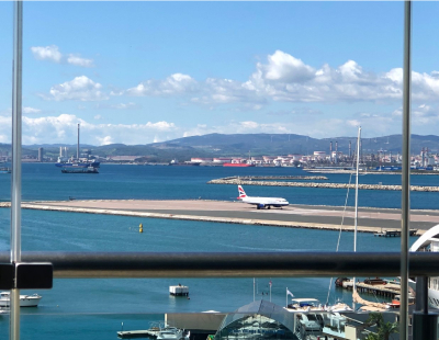Chestertons Rocks - views from the Gibraltar office (and a poem)