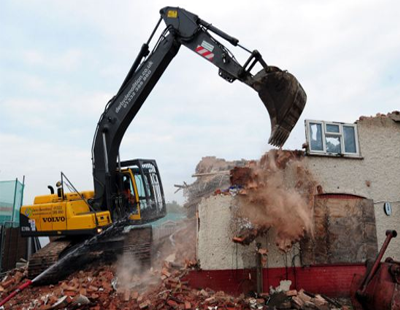Demolished! Lotto winner's illegal outbuilding to let is now rubble...