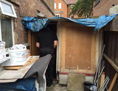 Appalling 'Slumdog' shanty house used as private home to let